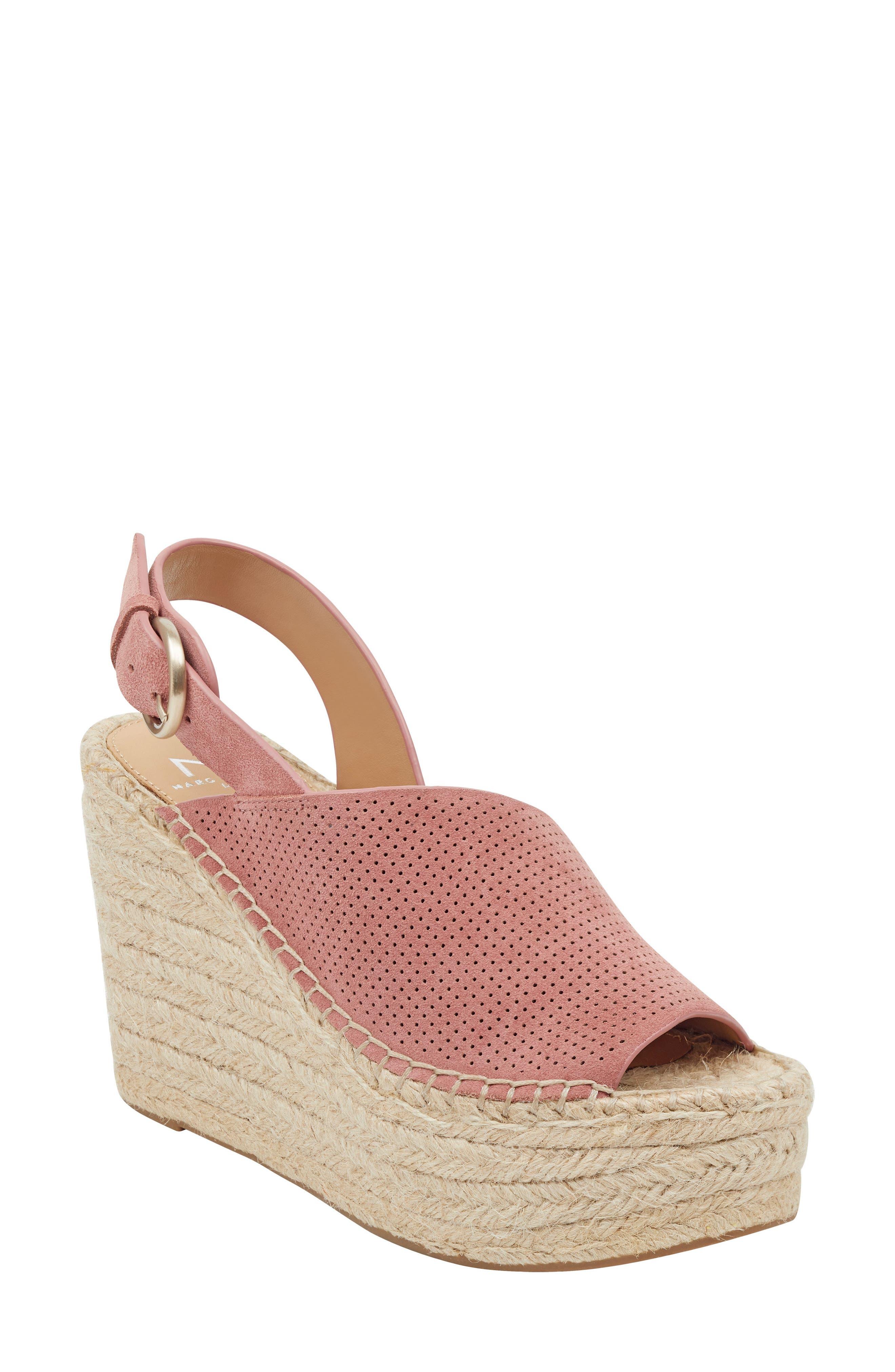 Marc Fisher Ltd Andela Slingback Espadrille Wedge, Pink