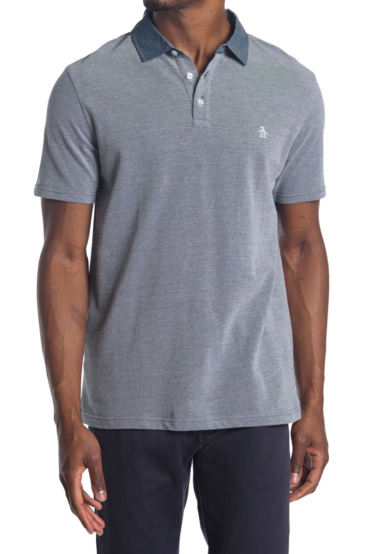 Image of Original Penguin Short Sleeve Birdseye Polo Shirt