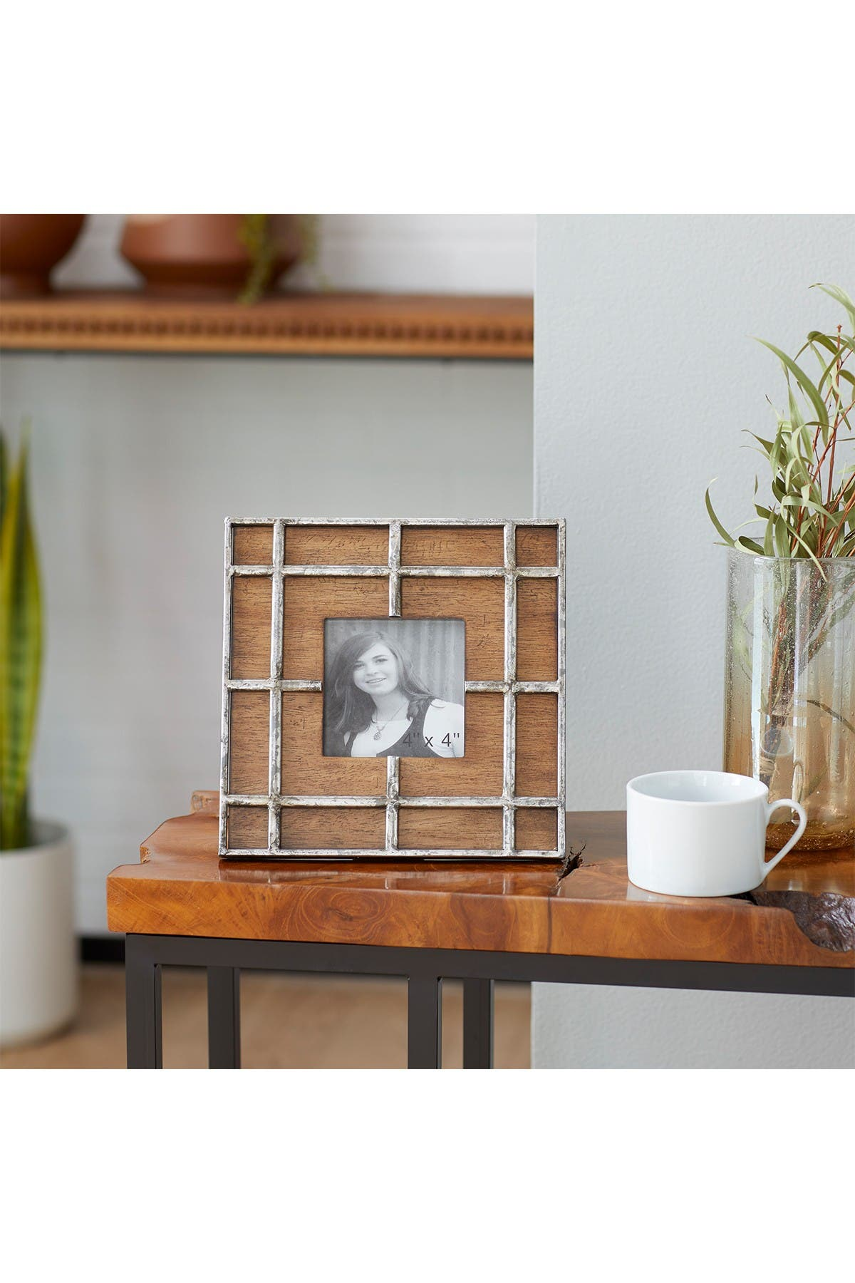 Image of Willow Row Brown Wood Industrial Photo Frame