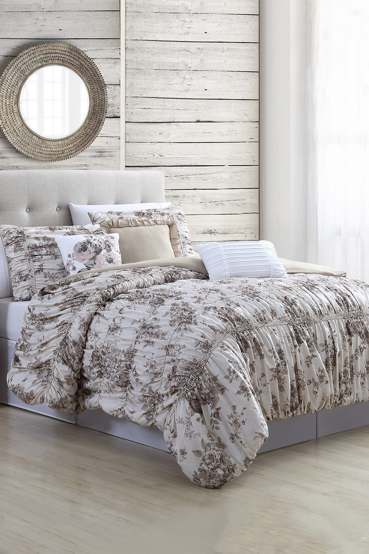 Image of Modern Threads 6-Piece Printed Textured Comforter Set - Bounty Floral - King