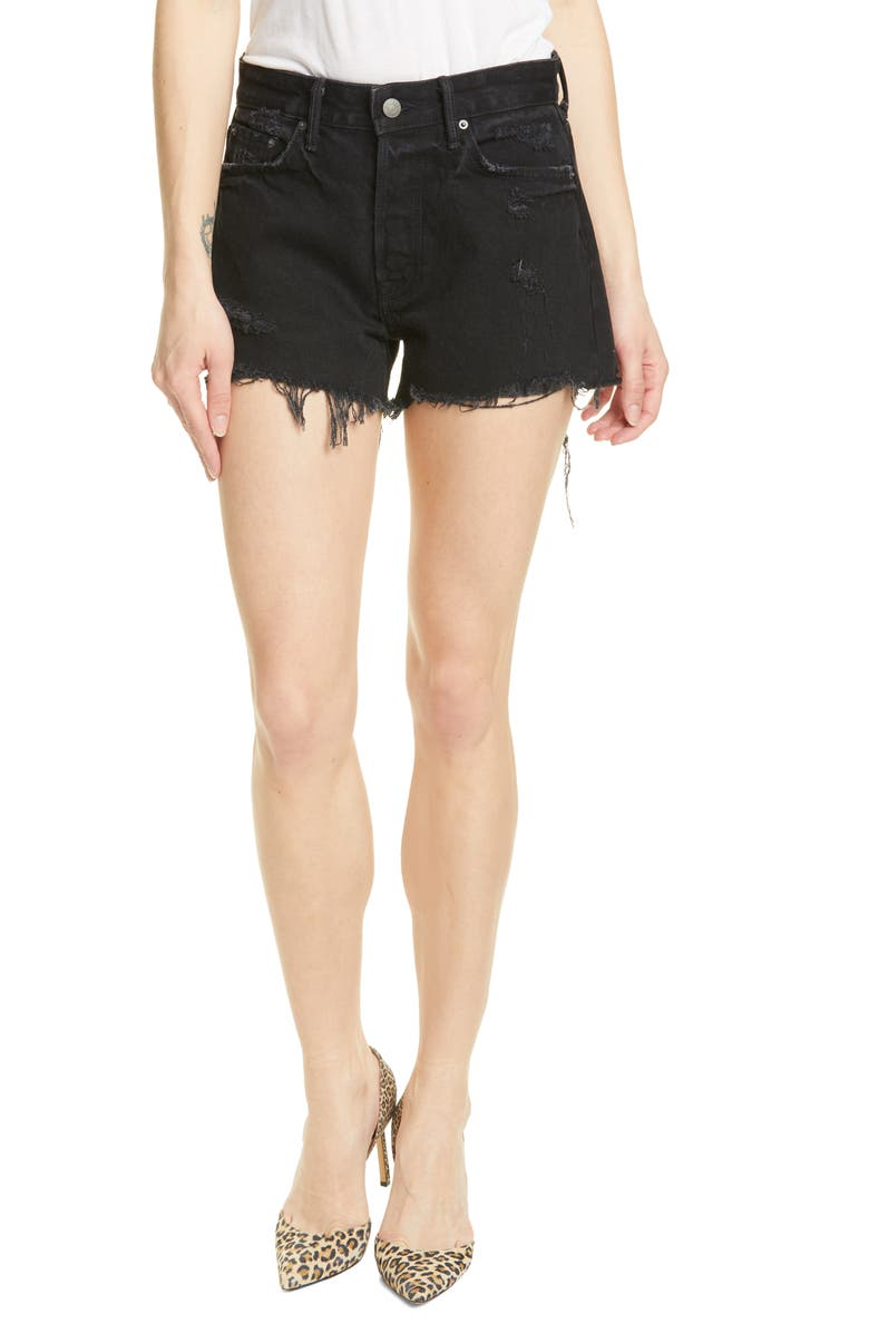 GRLFRND Helena Denim Shorts, Main, color, MOONLIGHT DANCE