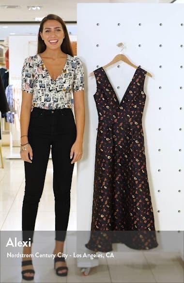 Floral Jacquard A-Line Dress, sales video thumbnail