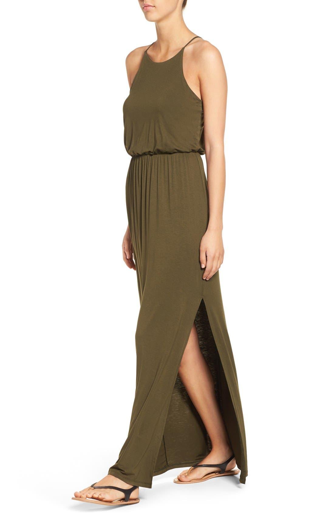 ,                             High Neck Maxi Dress,                             Alternate thumbnail 88, color,                             302