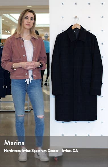 Classic Fit Check Wool Coat, sales video thumbnail