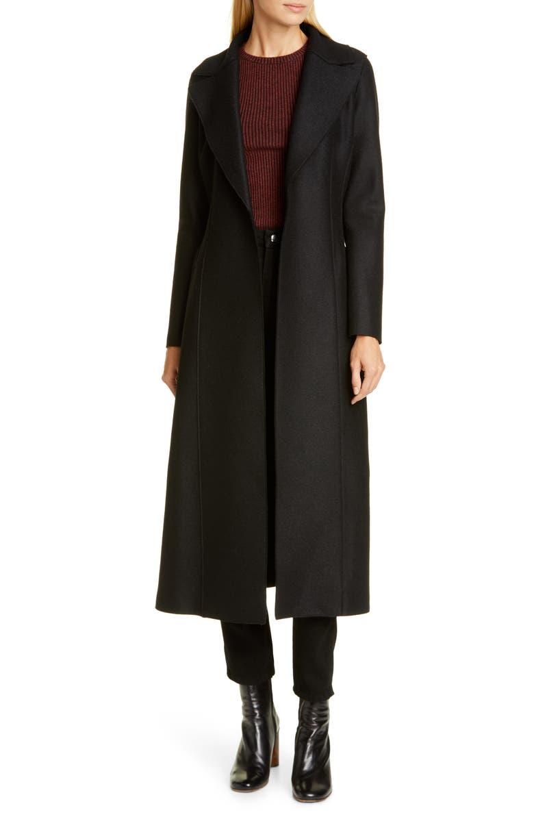 HARRIS WHARF LONDON Long Wool Duster Coat, Main, color, 001