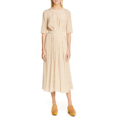 Rachel Comey Eleatic Silk A-Line Dress, Beige