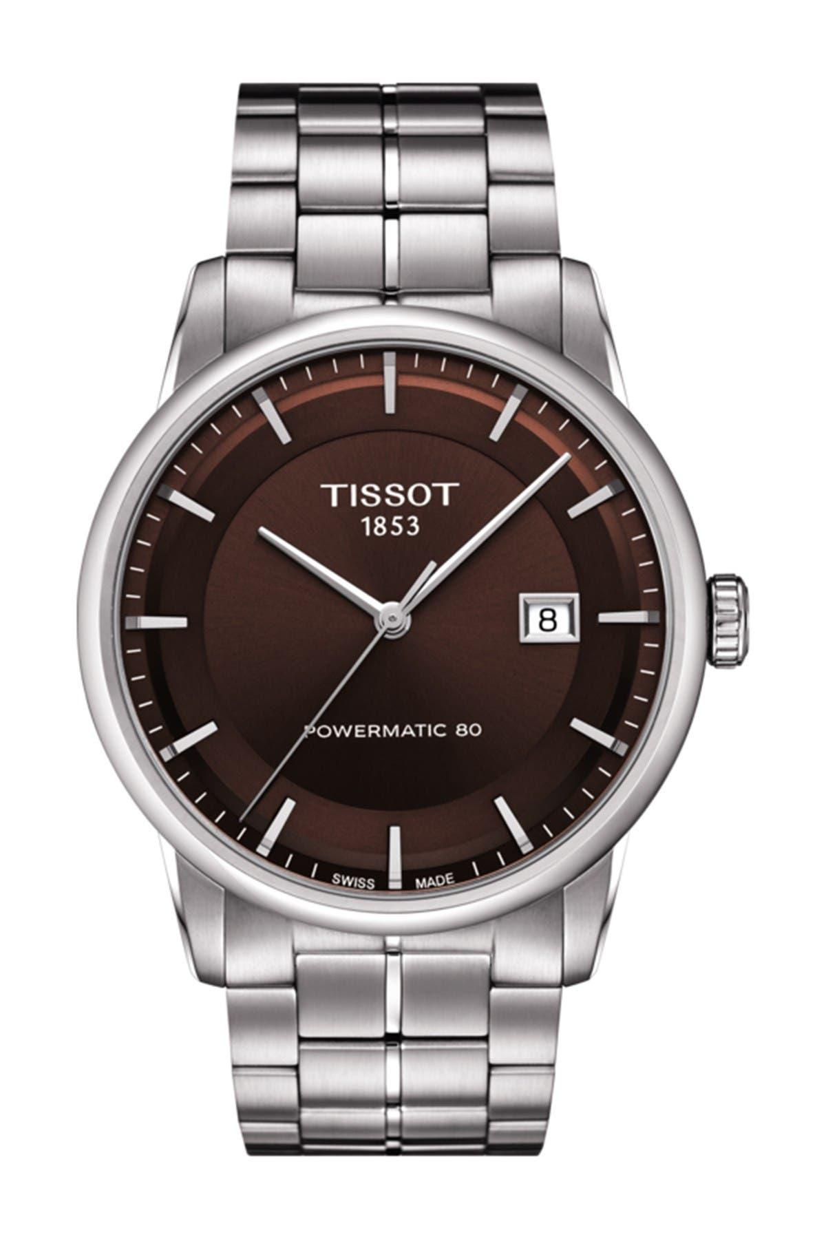 Image of Tissot Men's Luxury Powermatic 80 Bracelet Watch, 41mm