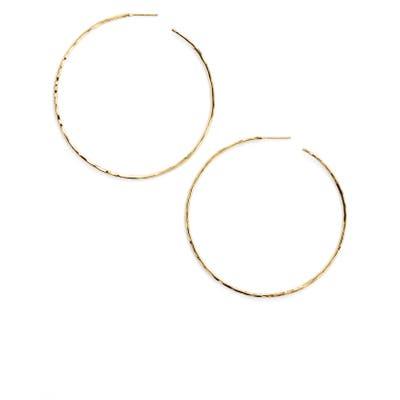 Argento Vivo Extra Large Hammered Hoop Earrings