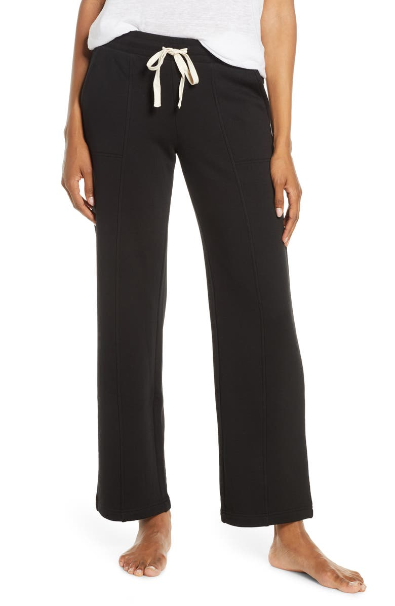 UGG<SUP>®</SUP> Shannon Double Knit Lounge Pants, Main, color, BLACK