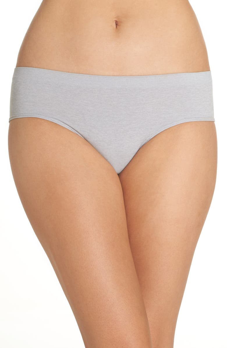 HALOGEN<SUP>®</SUP> Seamless Hipster Briefs, Main, color, GREY ALLOY