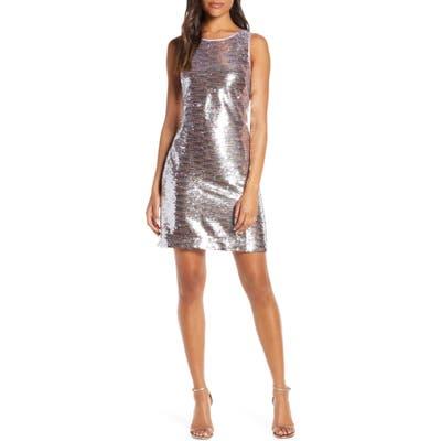 Vince Camuto Sequin Sleeveless Sheath Dress, Pink