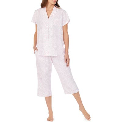 Eileen West Crop Pajamas, Pink
