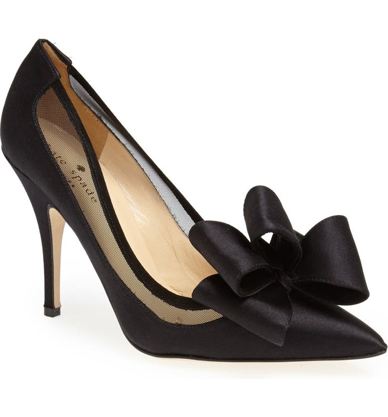 KATE SPADE NEW YORK 'lovely' pointy toe pump, Main, color, 001