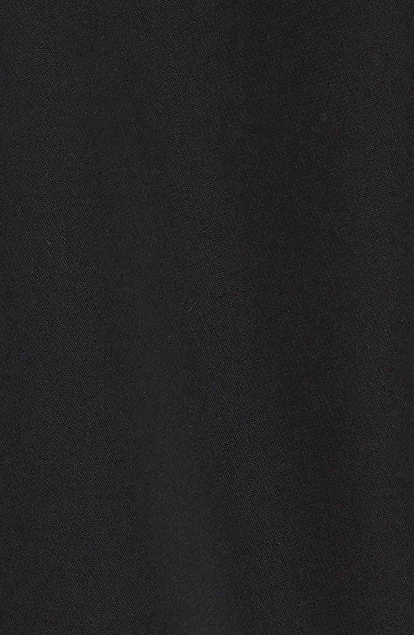 ,                             Single Button Blazer,                             Alternate thumbnail 6, color,                             BLACK