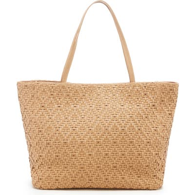 Sole Society Ashby Woven Tote - Brown