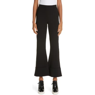 Stella Mccartney Flare Leg Pull-On Ankle Pants, 8 IT - Black
