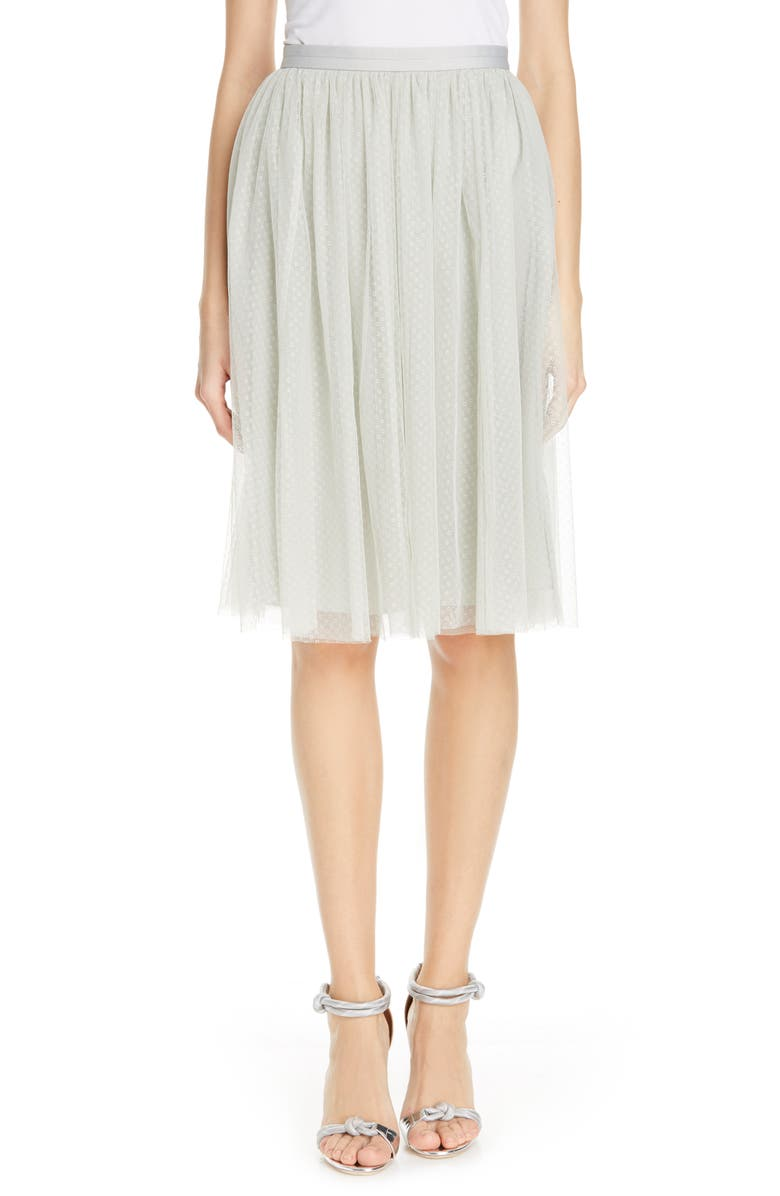 NEEDLE & THREAD Dotted Tulle Skirt, Main, color, 330