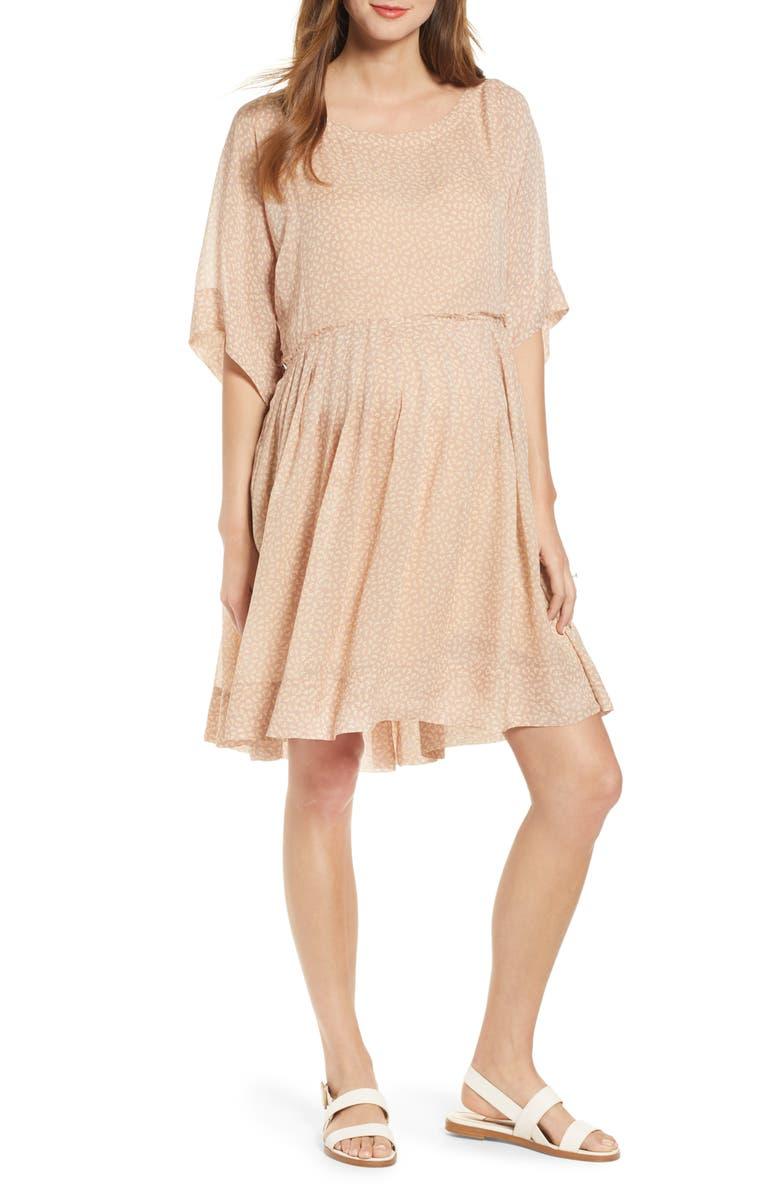 HATCH Lucia Dress, Main, color, BLUSH DAISY
