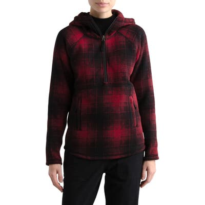 The North Face Print Crescent Full Zip Hoodie, Red