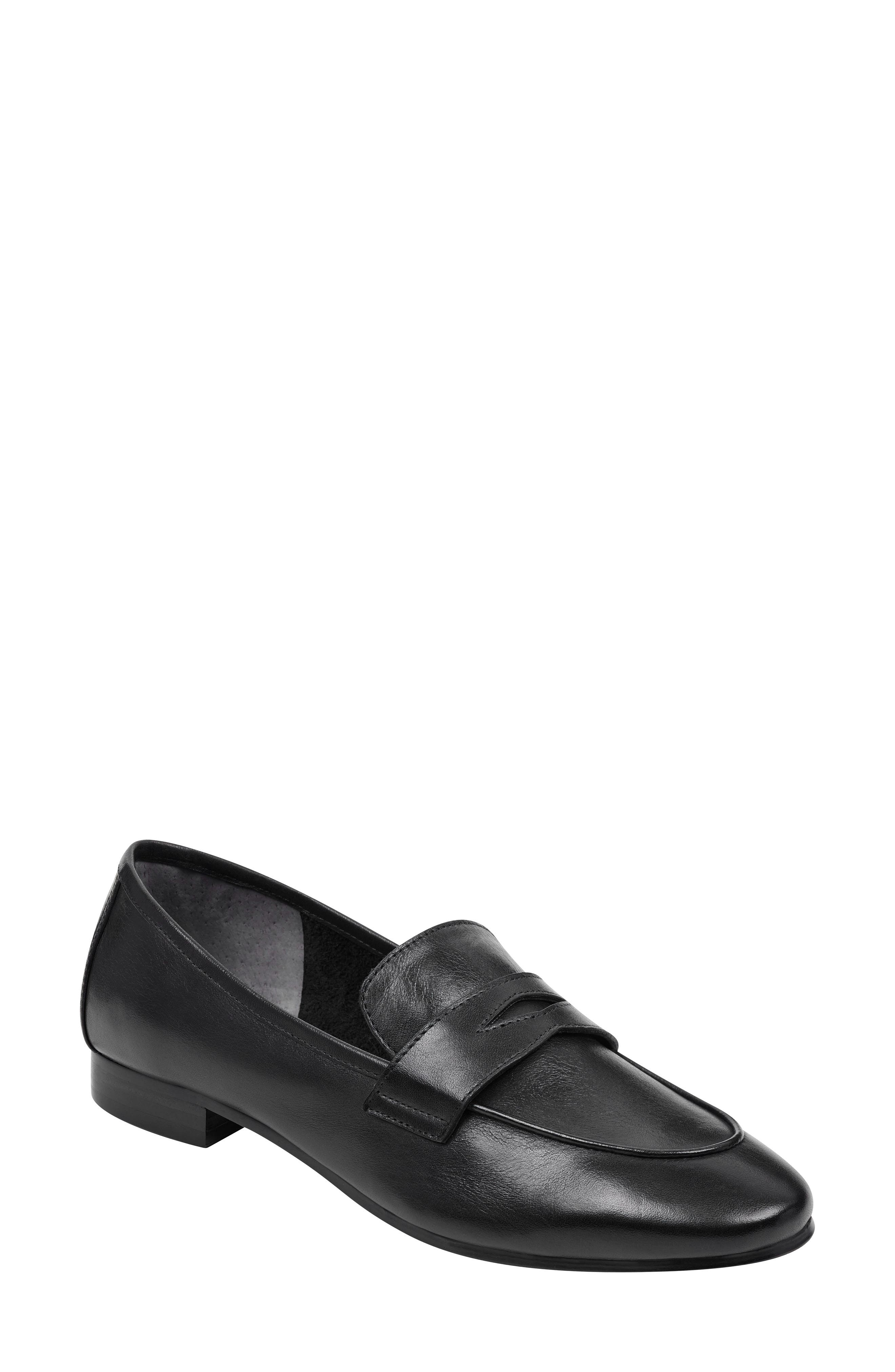 Chang Penny Loafer, Main, color, BLACK LEATHER
