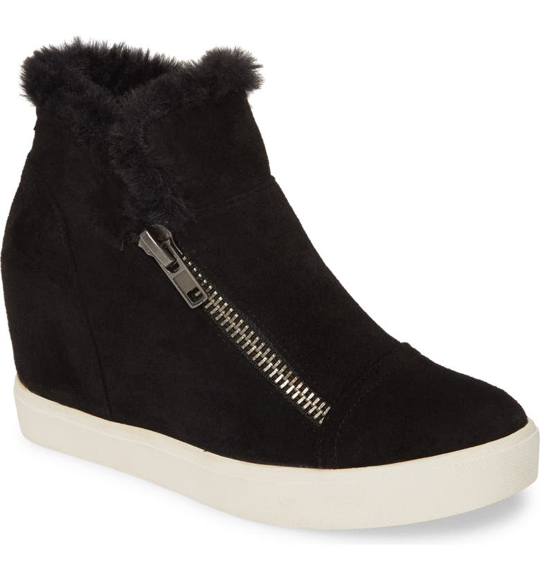 COCONUTS BY MATISSE Later Days Faux Fur Wedge Sneaker, Main, color, 006