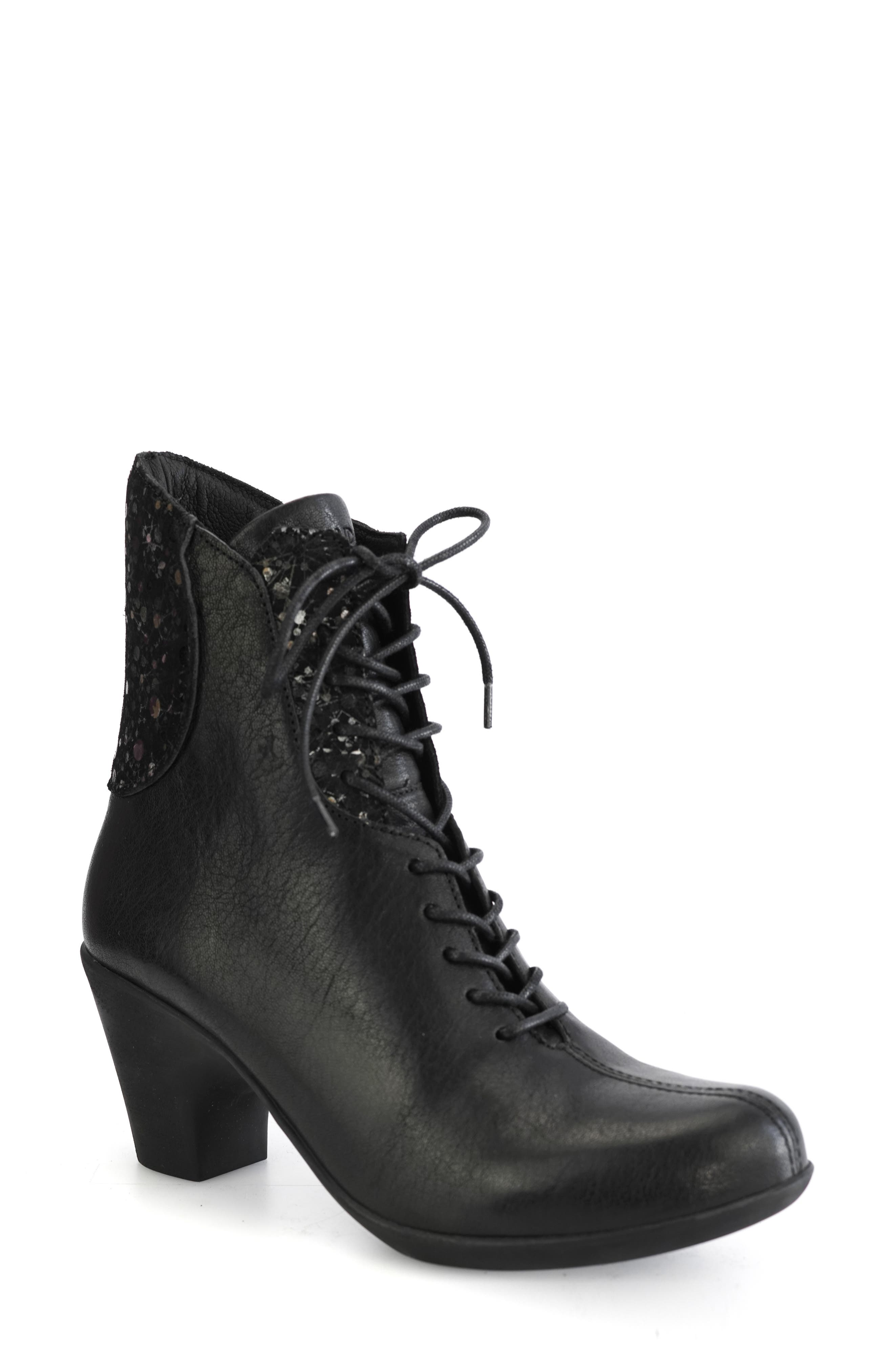 Jalil Chunky Heel Lace-Up Boot