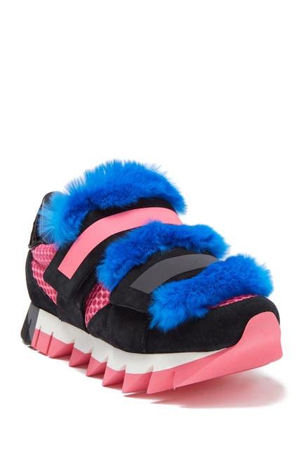 Image of Dolce & Gabbana Genuine Rabbit Fur Strap Sneaker