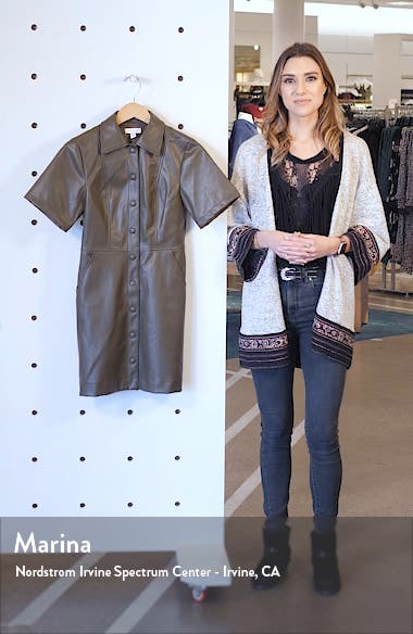 Faux Leather Shirtdress, sales video thumbnail