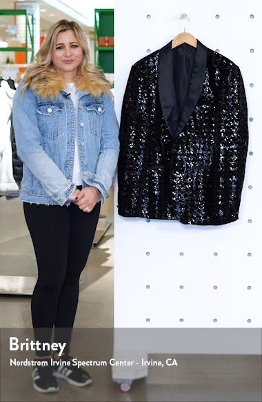 Sequin Skinny Fit Suit Blazer, sales video thumbnail