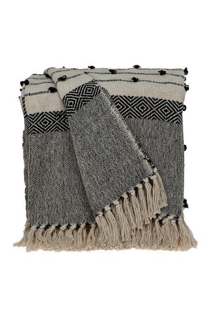 "Image of Parkland Collection Alia Eclectic Beige 52"" x 67"" Woven Handloom Throw"