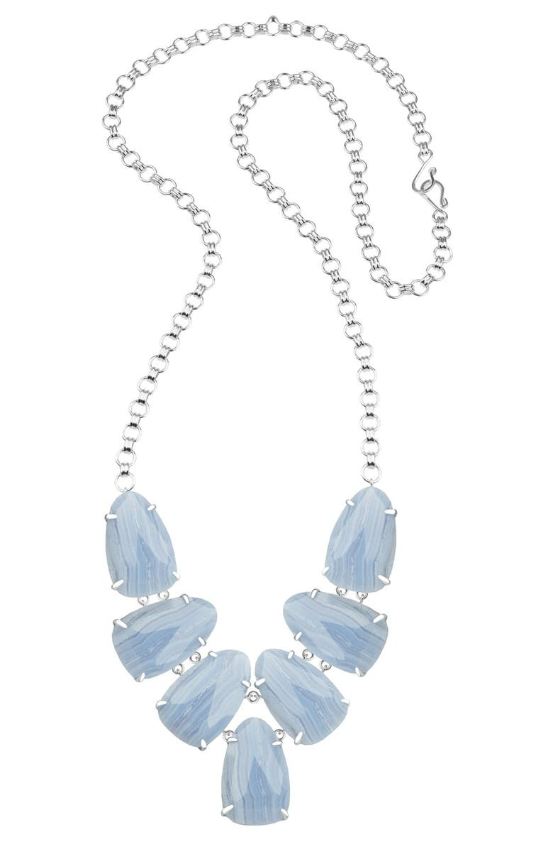 KENDRA SCOTT 'Harlie' Stone Cluster Long Necklace, Main, color, 400