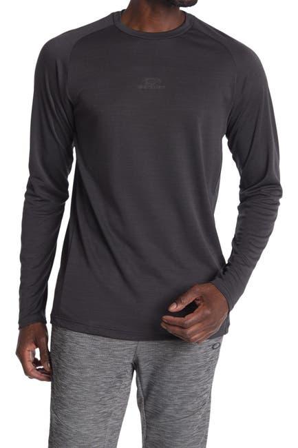 Image of Oakley Foundational Heathered Long Sleeve Tech T-Shirt