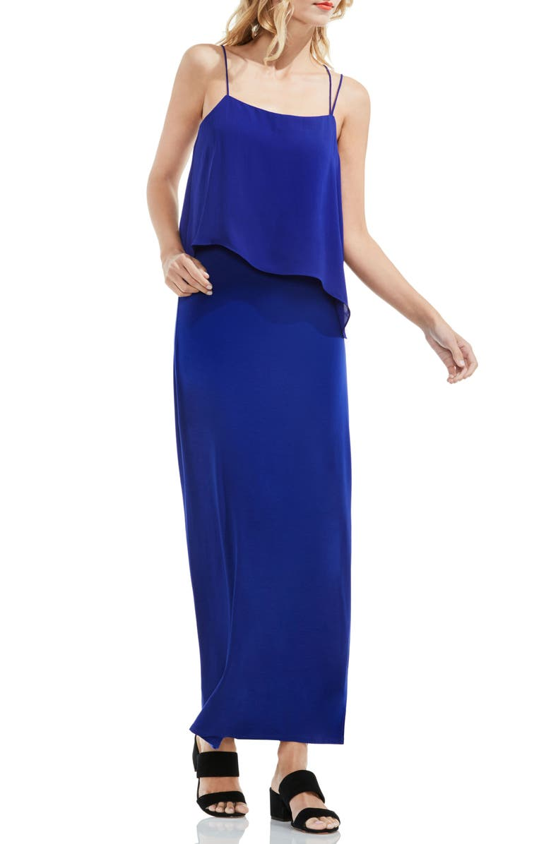 Vince Camuto Popover Mixed Media Maxi Dress Nordstrom