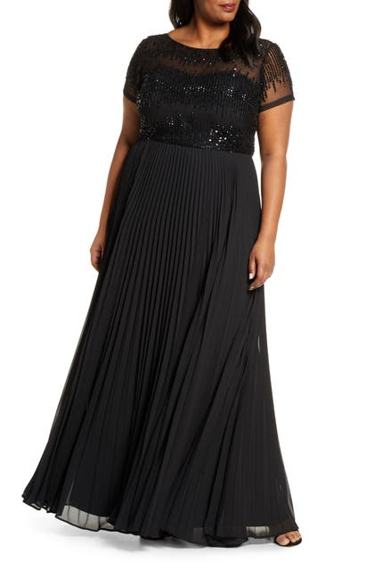 Js Collections Tops BEADED BALLGOWN