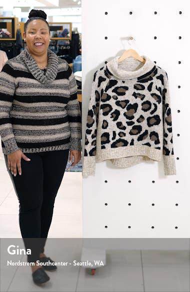 Leopard Jacquard Cowl Neck Sweater, sales video thumbnail