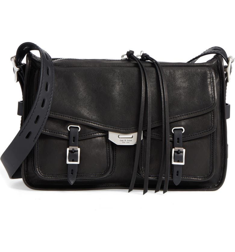 RAG & BONE Field Leather Messenger Bag, Main, color, 001