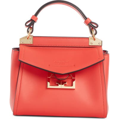 Givenchy Small Mystic Leather Satchel - Red