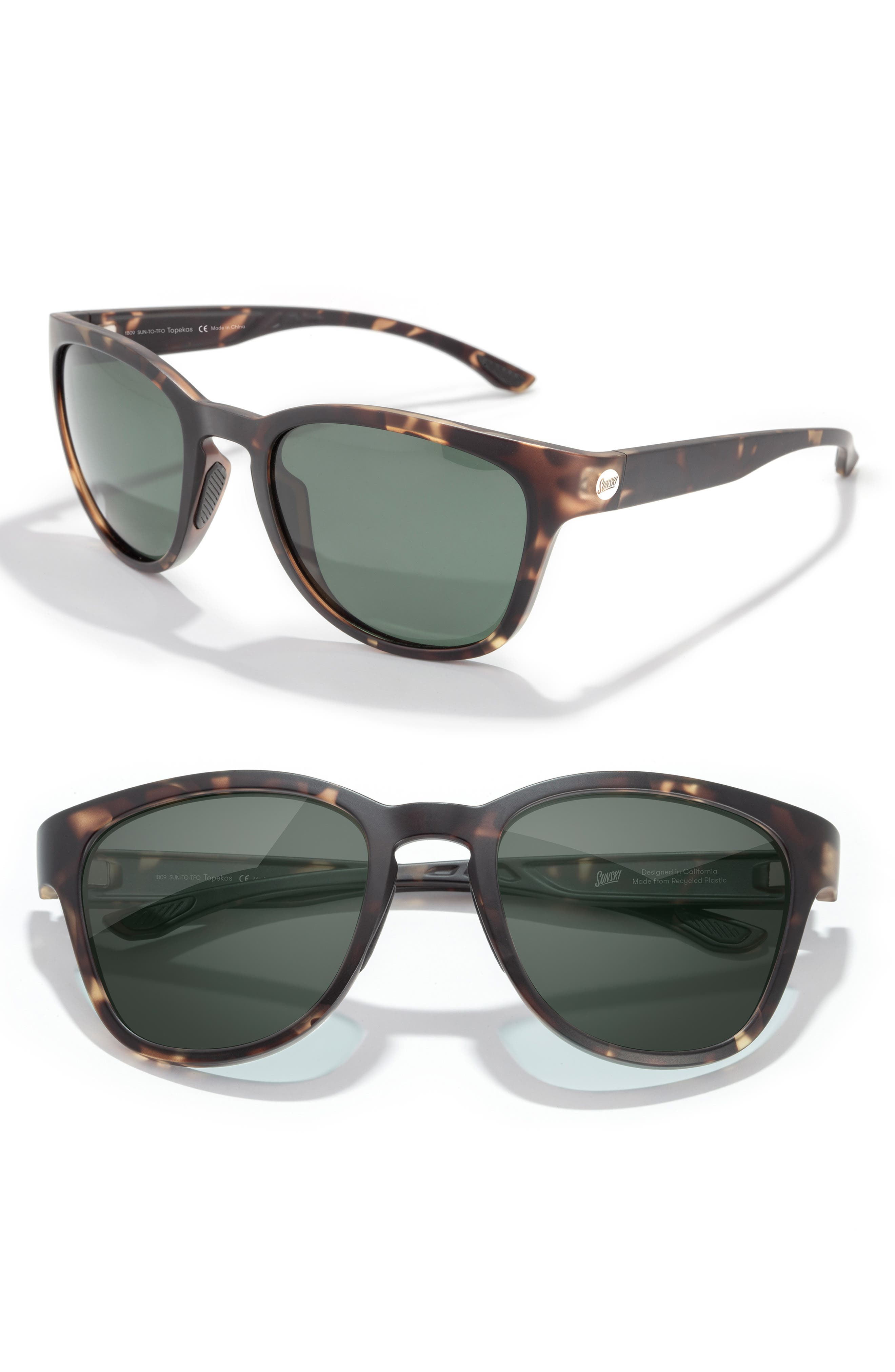 Quintessential tortoiseshell sunnies are crafted with a more rounded vintage-inspired shape that\\\'s versatile for most faces with soft flexibility to conform. Antireflective polarized lenses with full UV protection ensure true color-clarity that won\\\'t have you squinting in the blinding light. Style Name: Sunski Topekas 51mm Polarized Sunglasses. Style Number: 5799779. Available in stores.