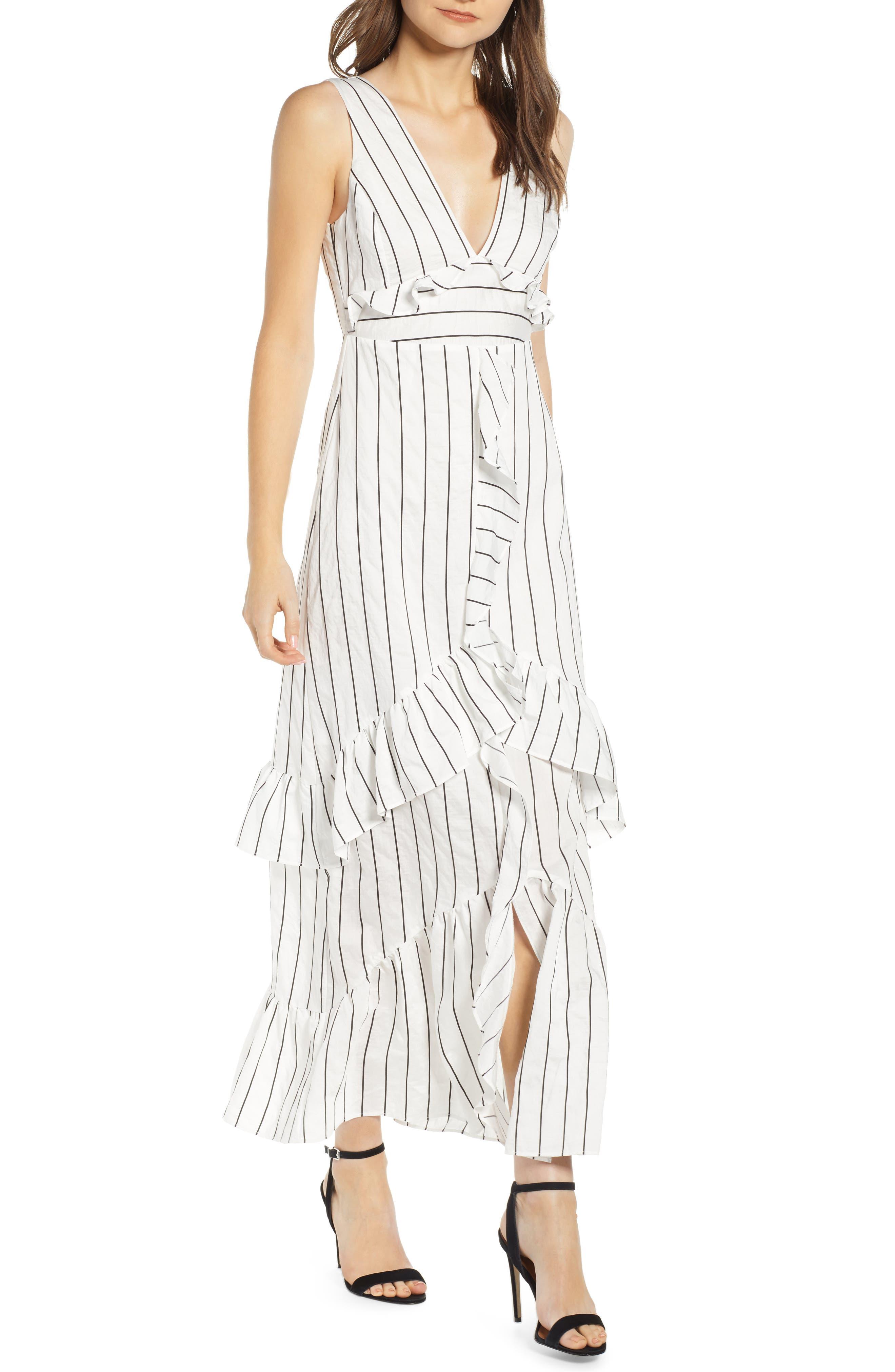Endless Rose Stripe Maxi Dress, White