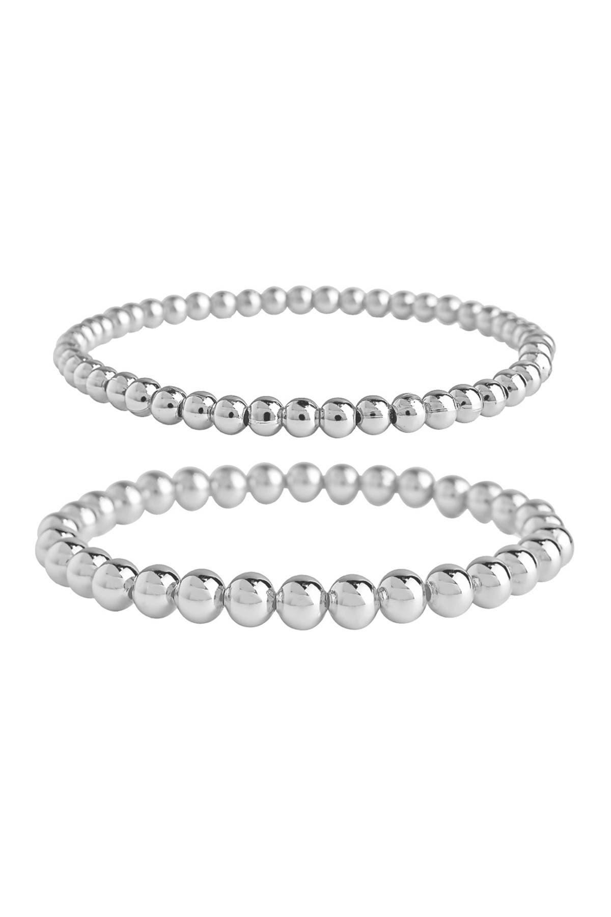Image of Sterling Forever Beaded Stretch Bracelet Set
