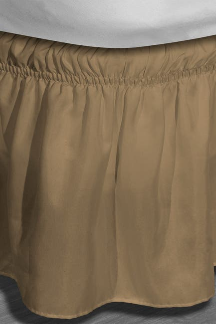 Image of Duck River Textile Twin/Full Waldorf Microfiber Bed Ruffle Skirt - Mocha