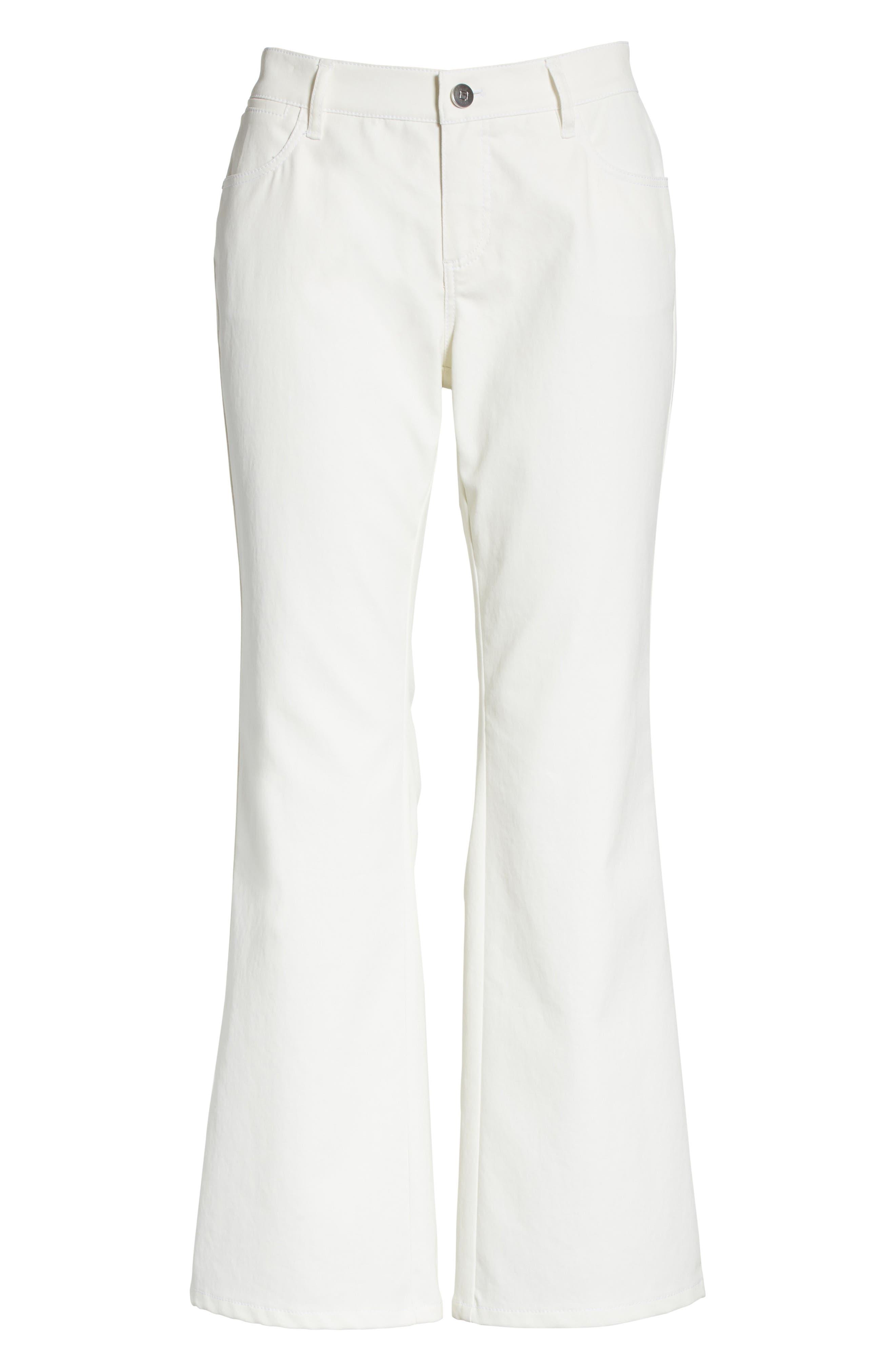 ,                             Mercer Crop Flare Jeans,                             Alternate thumbnail 8, color,                             WHITE
