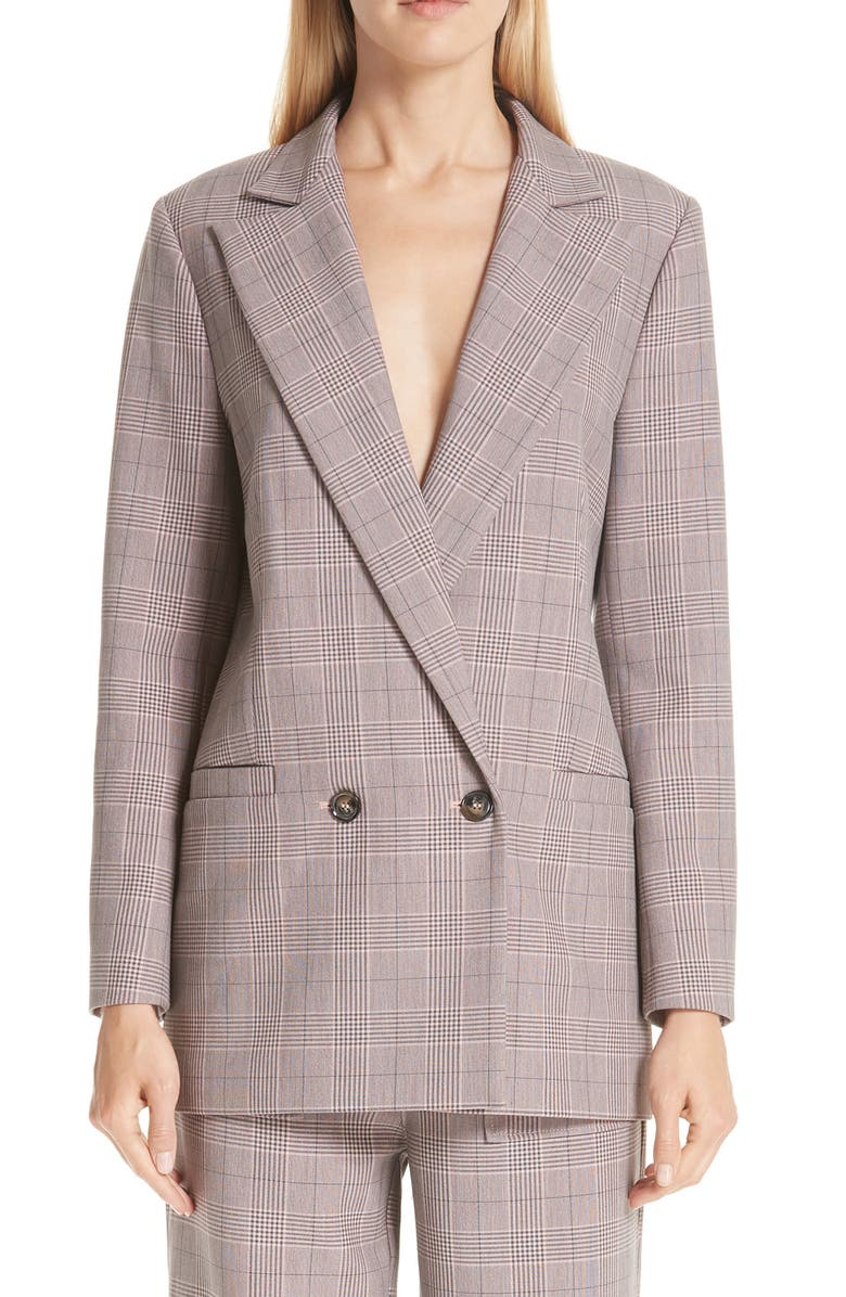 GANNI Suiting Blazer, Main, color, SILVER PINK 499