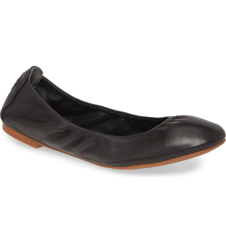 TORY BURCH Eddie Ballet Flat, Main, color, PERFECT BLACK