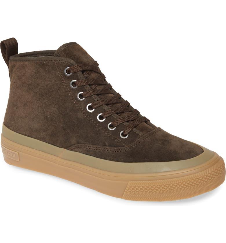 SEAVEES Mariners Waterproof Sneaker Boot, Main, color, DARK COFFEE SUEDE