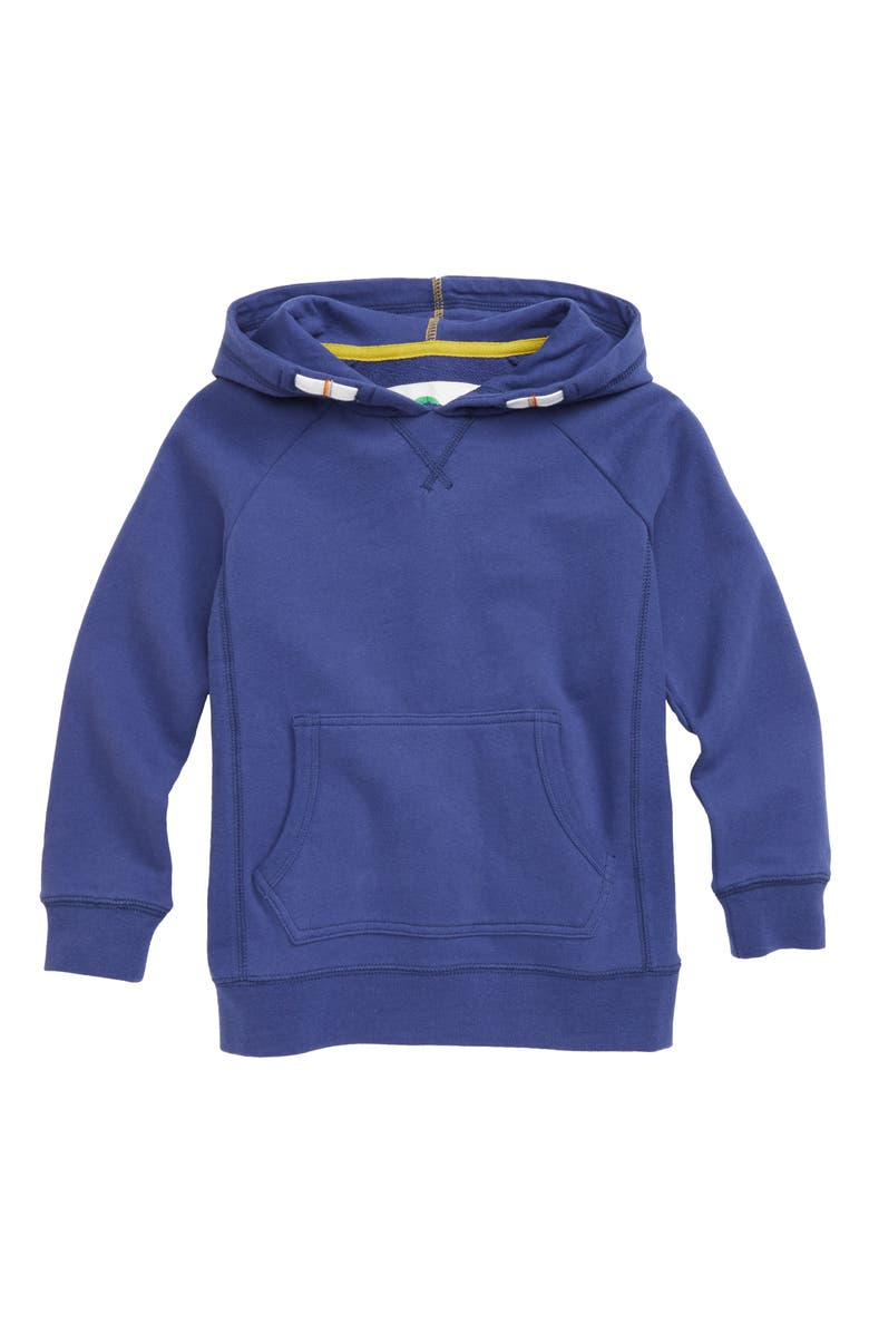 MINI BODEN Everyday Hoodie, Main, color, STARBOARD BLUE