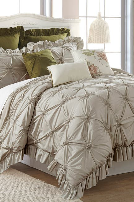 Image of Modern Threads Queen Caroline Comforter Set - Taupe