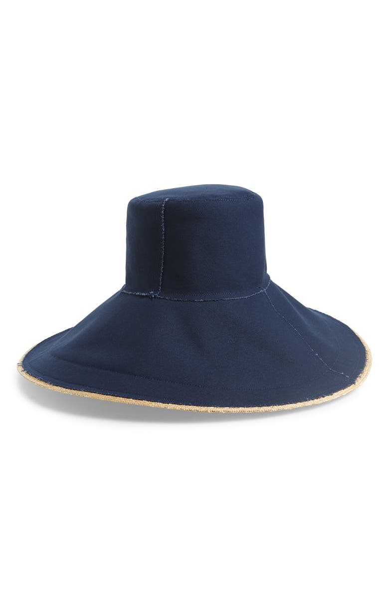 LOLA HATS Single Take Wide Brim Hat, Main, color, NAVY