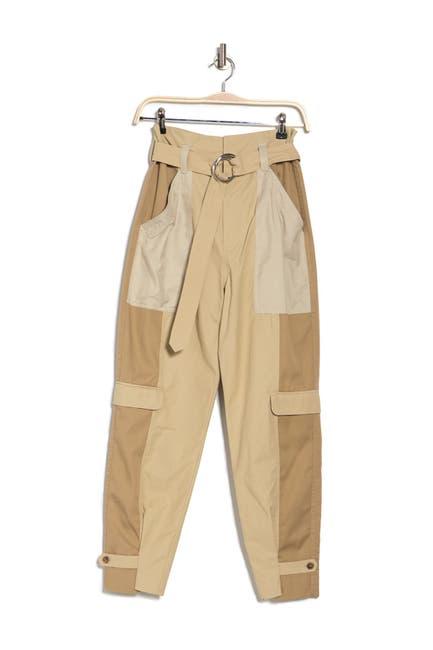 Image of FRAME Color Block Waist Tie Cargo Pants