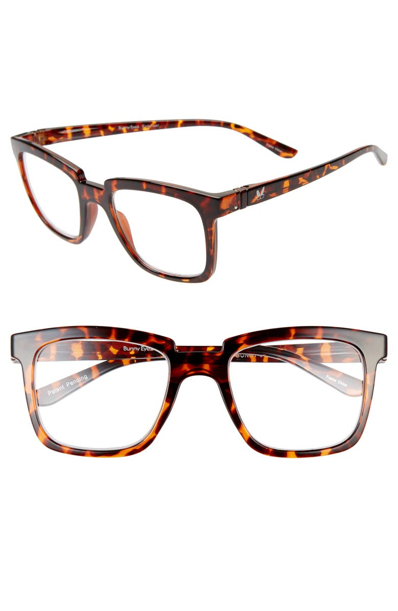 BUNNY EYEZ The Bunny 51mm Reading Glasses, Main, color, TIGER TORTOISE